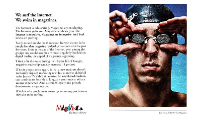 Magazines, The Power of Print ad