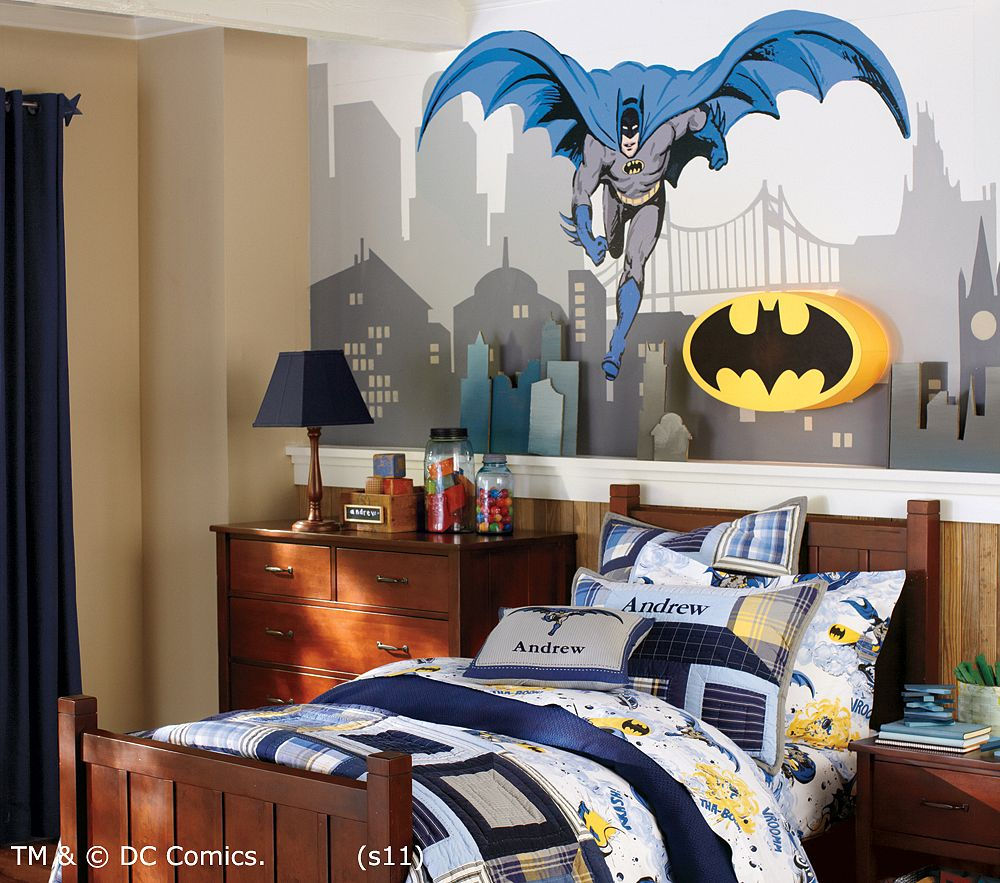 I am momma hear me roar the superhero bedroom part 2 for Boys bedroom mural
