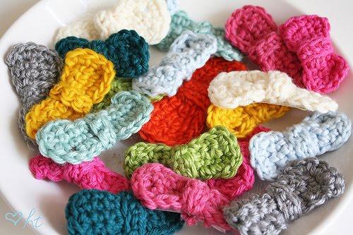 Crochet Hair Tangle Free : Crocheted Hair Bows