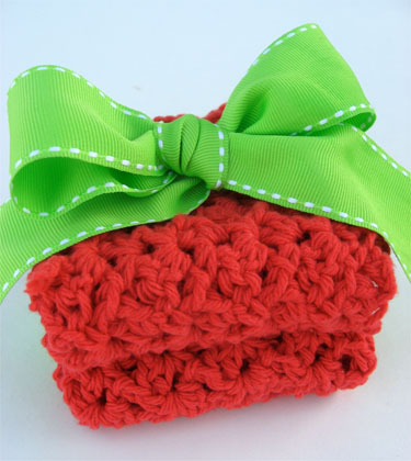 Amazon.com: Crochet Dishcloths Featuring a Pot Scrubber, Too
