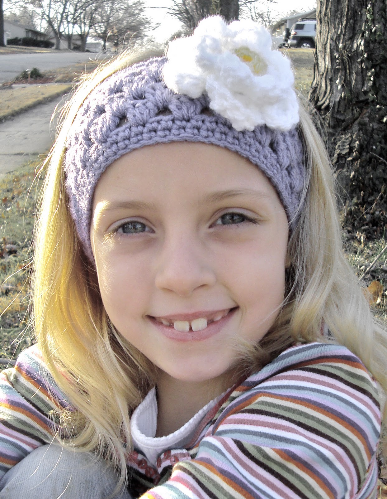 tangled happy: Granny Stripe Headband/Earwarmer