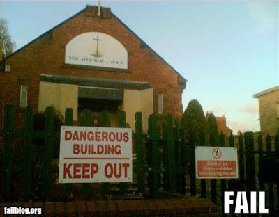 iglesia edificio peligroso