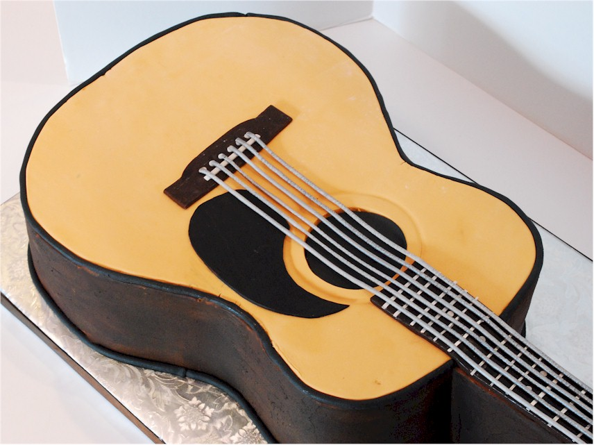 Images Of Guitar Cake : Cup a Dee Cakes Blog: Acoustic Guitar Groom s Cake