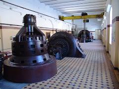 Sala turbinelor de la Hidrocentrala-muzeu Sadu I