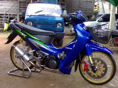 beast is inside  Honda Wave 125 Thai modify style
