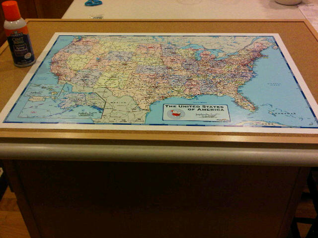 One Creative Momma DIY Where Have We Been Wall Map – Where Have I Traveled Map