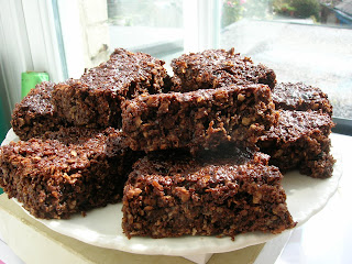Chocolate Coconut Raisin Flapjacks