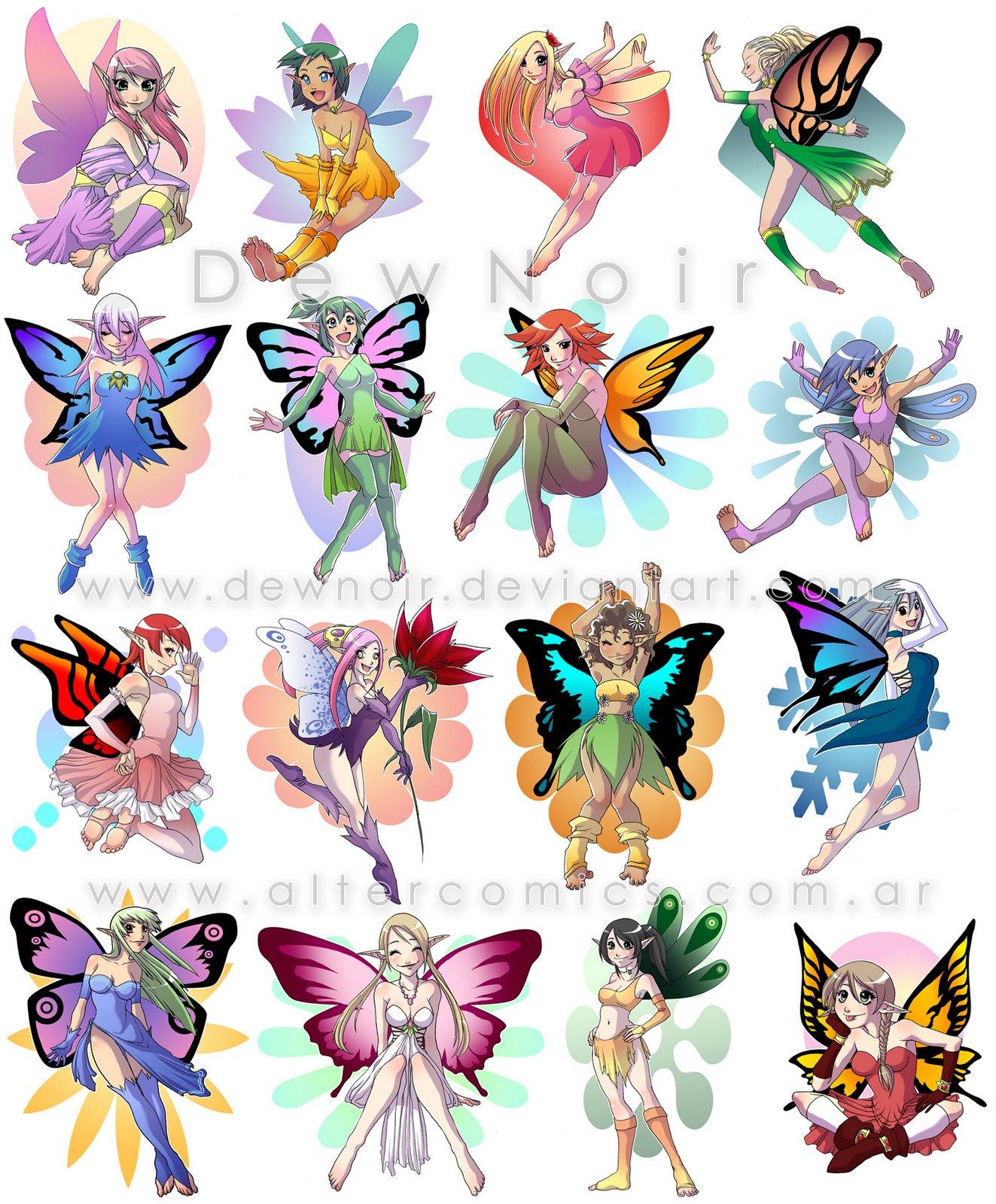 Dibujos Para Colorear Anime Hadas ~ Ideas Creativas Sobre Colorear