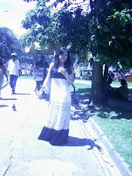 Camila na Praça da República