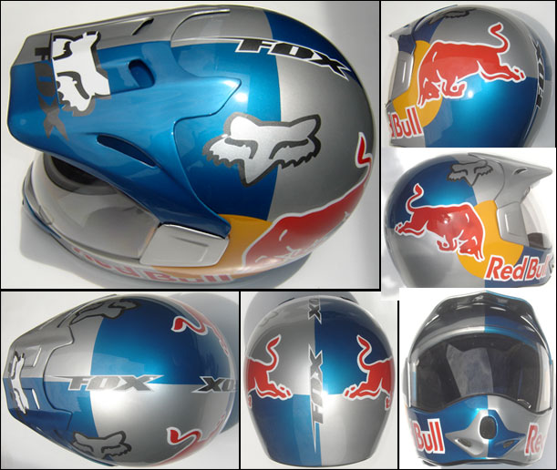 capacete fox redbull detalhes