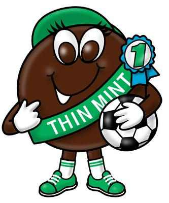 The Girl Scouts trim their cookie