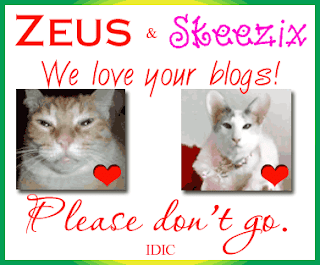 Zeus & Skeezix, Please Don't go!!