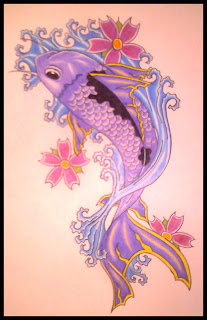 koi balığı dövmesi modelleri