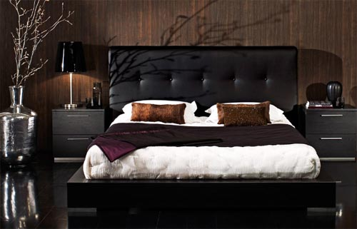 Leather Bedrooms Designs