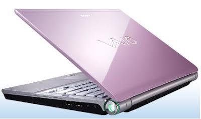 Sony VAIO SR pink laptop