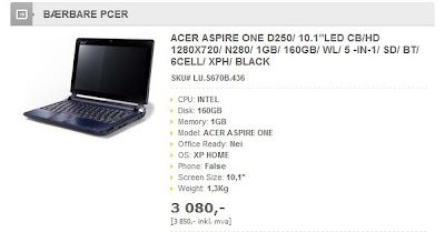 HD Acer Aspire One D250