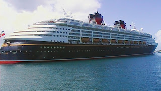 Disney Wonder docked in Nassau, Bahamas
