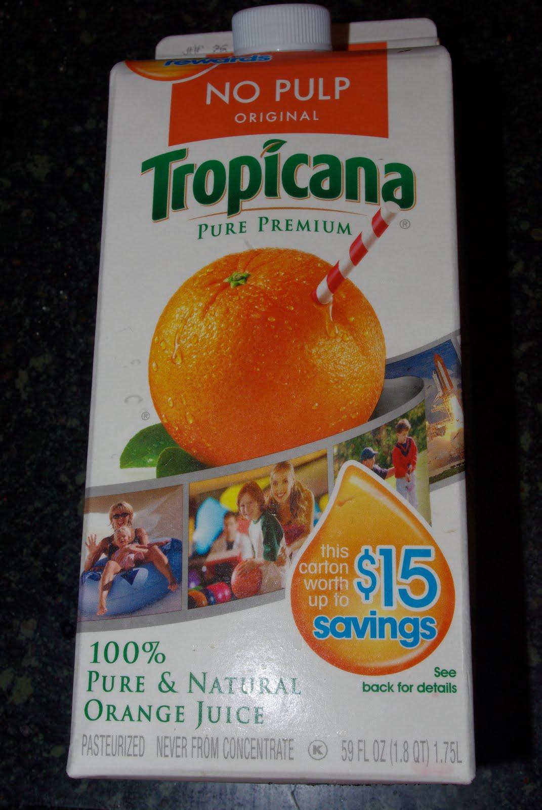 Tropicana Lots Of Pulp 100% Orange Juice, Half Gallon