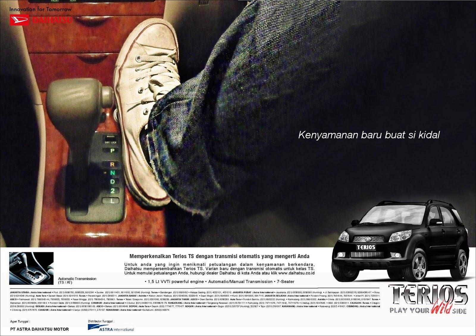 Layout Untuk Daihatsu Terios TS Matic