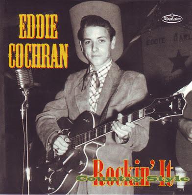 "Cover Album of EDDIE COCHRAN ""ROCKIN' IT COUNTRY STYLE"""