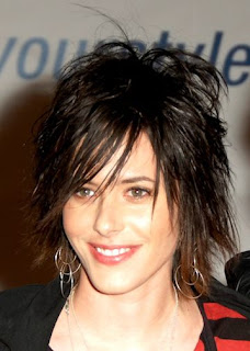 has a little less layers, short shag hairstyles sports short hairstyle