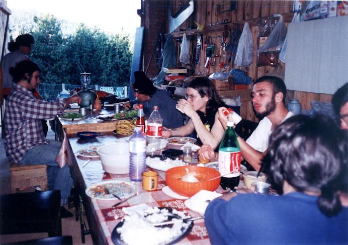 Almoço no sítio, em uma das viagens com os alunos de Estúdio