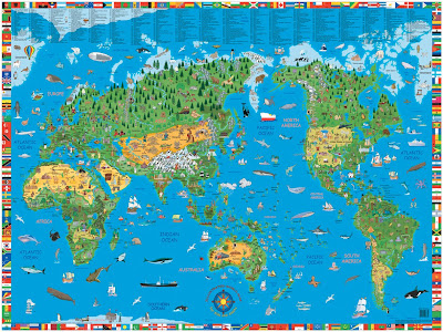 map of the world outline for children. Printable outline world map