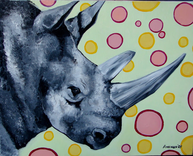 rhinoceros 55 x 40 cm