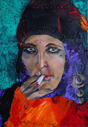 gipsy woman 50 x 33 cm