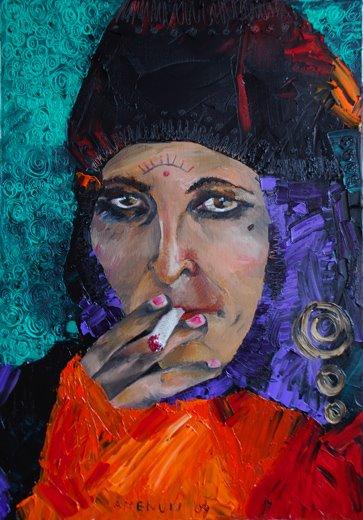 gipsy woman 50 x 33 cm