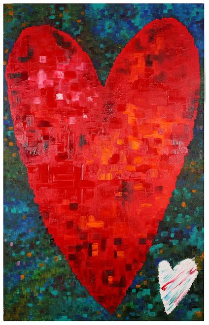 hearts 116 x 73 cm