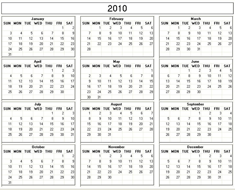 yearly calendar 2012 printable. yearly calendar 2012 printable