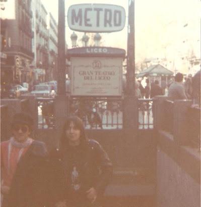 En Barcelona con Ricardo (noviembre de 1984):
