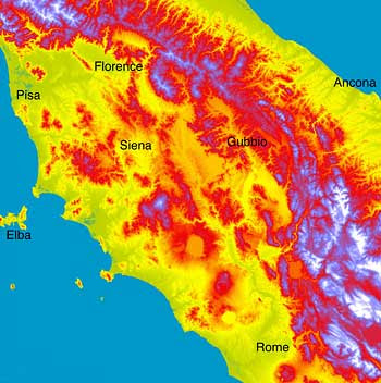 wjt03c: Apennines mountain range in Italy
