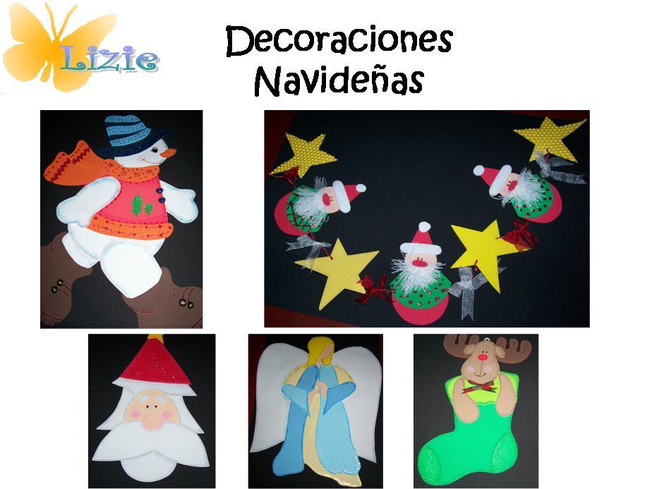 Lizie manualidades decoraciones navide as - Decoracion navidena manualidades ...
