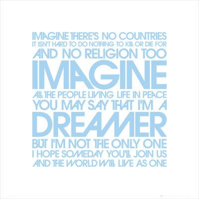 John Lennon Imagine Lyrics Poster