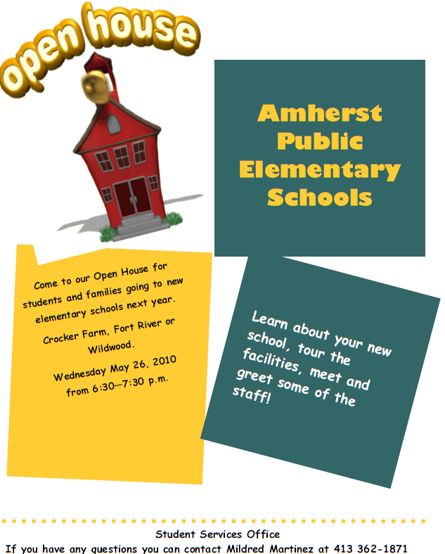 School Open House Brochure Template Pictures to Pin – Open House Template