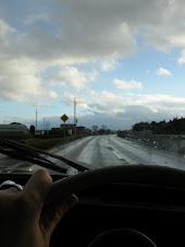雨上がりの一本道