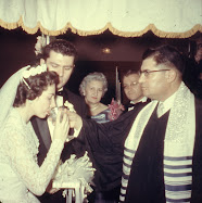Sara and Marvin During Their Wedding Ceremony