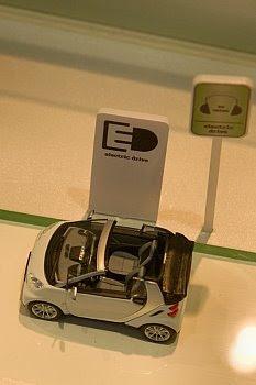 Modell des Elektro-Smart auf der NAIAS 2009© Cornelia Schaible