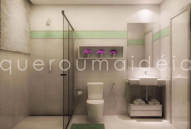 quero uma ideia: Reforma banheiro #82406E 1471x1000 Balcao Banheiro Quero Quero