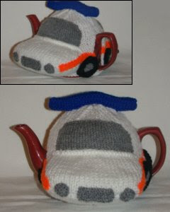 Police Car Tea Cosy Knitting Pattern