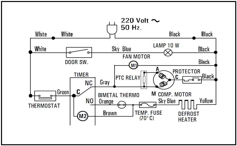 Tips  U0026 Trik Reparasi  Skematik Diagram Lemari Es 2 Pintu