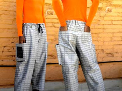 Phone Charger Through  Solar Paneled Pants