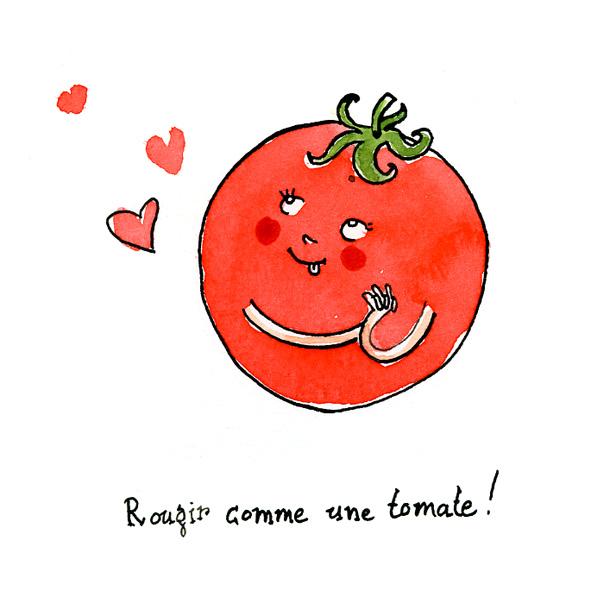 Marion de castillon les expressions du potager rougir comme une tomate - Tomate dessin ...