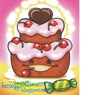 аппликация для детей тортик