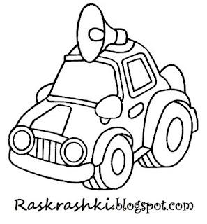 картинки для раскрашки для малышей машины