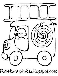 картинки для раскраски для малышей машины