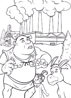 Раскраска Шрек и его друзья