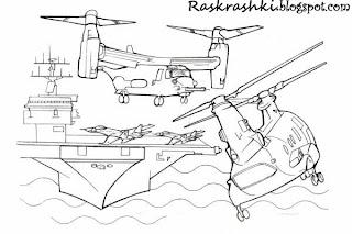 Разукрашка вертолетов